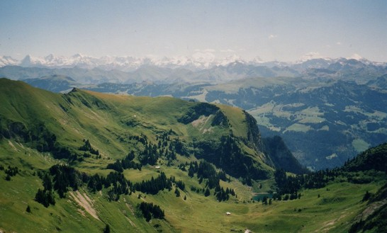 Bernese Alps as seen from Kaiseregg